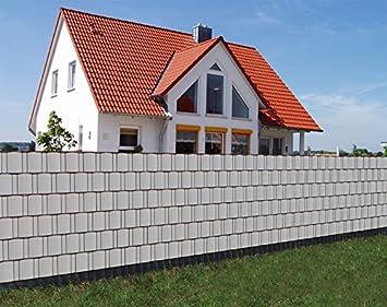 sichtschutz rolle 35m blickdicht pvc zaunfolie windschutz f r doppelstabmatten zaun grau db908. Black Bedroom Furniture Sets. Home Design Ideas