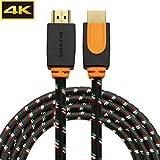 4K HDMI Kabel, 3M HDMI2.0 Kabel (26AWG geflochten) für Xbox...