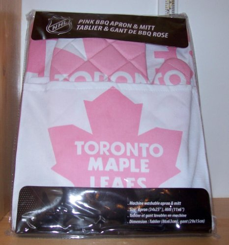 Toronto Maple Leafs Pink Apron with Oven/Barbeque Mitt