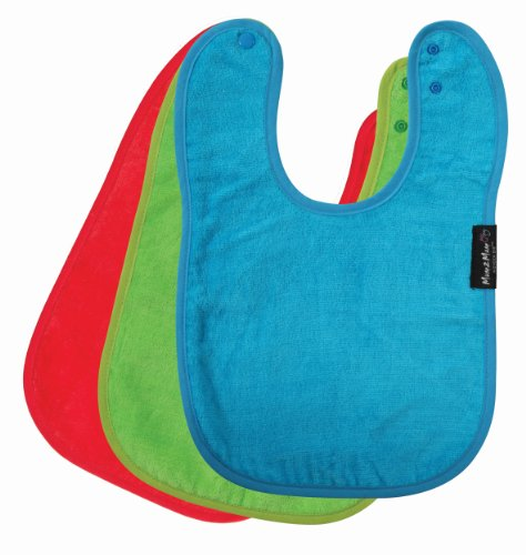 Standard Wonder Bib, 3 pack - Red, Lime, Teal
