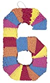 Multicolor Number 6 Pinata