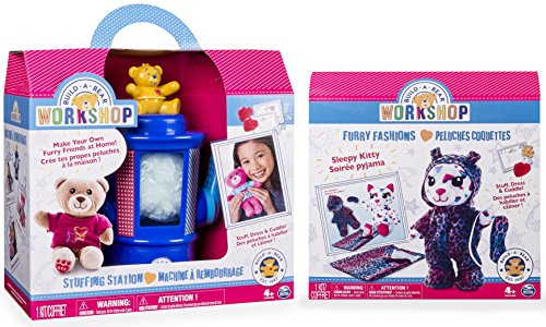 Build-A-Bear Workshop Stuffing Station and Furry Fashions Sleepy Kitty Refill Pack 2 Piece Bundle (Build A Bear Bundle compare prices)