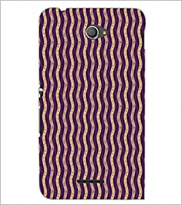 PrintDhaba Pattern D-5921 Back Case Cover for SONY XPERIA E4 (Multi-Coloured)