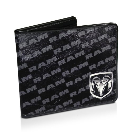 Dodge RAM Pattern Black Synthetic Leather Wallet Picture