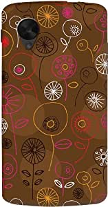 DailyObjects Brown Floral Case For LG Google Nexus 5