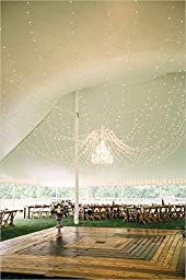 B&Y Wedding Party Lights Christmas Backdrop 9.8 x 9.8Ft (3M x 3M) 300 LED Fairy Garden Curtain String Lights Decoration for Christmas Wedding Church Party 110V (Warm White)