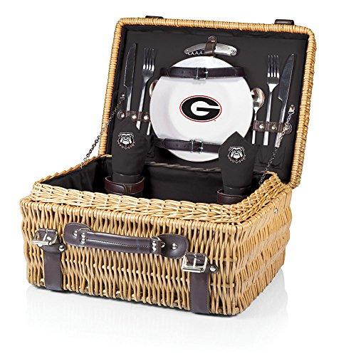 ncaa-georgia-bulldogs-champion-con-deluxe-cestino-da-picnic-per-2-colore-nero