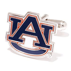 NCAA Auburn Tigers Team Logo Cufflinks by Football Fanatics
