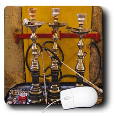 3Drose 8 X 8 X 0.25 Inches Mouse Pad, Sheesha Pipes (Mp_132717_1)