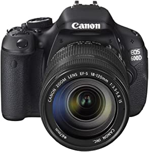 "Canon EOS 600D - Cámara réflex digital de 18 Mp (pantalla articulada de 3"", objetivo(s) 18-135mm f/3,5, procesador Digic 4, estabilizador de imagen óptico) negro (importado)"