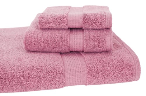 Calcot Growers Collection 100-Percent Zero-Twist Supima Cotton 3-Piece Bath Towel Set, Cherry Blossom