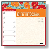 Orange Circle Studio 2015 Weekly Desk Pad Calendar, Bold Blossoms (13014)