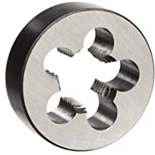 "Union Butterfield 2010(NPT) Carbon Steel Round Threading Die, Uncoated (Bright) Finish, 1/2""-14 Thread Size"
