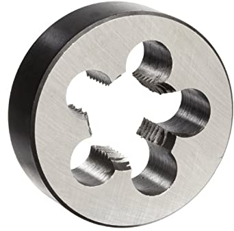 """Union Butterfield 2010(NPT) Carbon Steel Round Threading Die, Uncoated (Bright) Finish, 1/2""""-14 Thread Size"""
