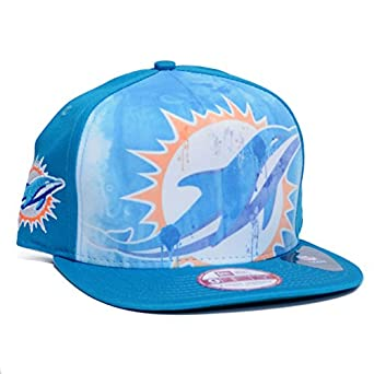 Miami Dolphins Watercolor Print Snapback Adjustable Hat by NFL