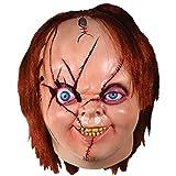 Loftus International Bride Version 2 Chucky Full Head Mask Beige Red One-Size Novelty Item