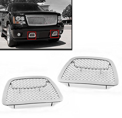 ZMAUTOPARTS Chevy Avalanche Suburban Tahoe Bumper Tow Hook Stainless Steel Mesh Grille (Chevy Tow Hooks compare prices)