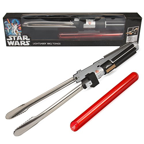 "Cheapest Prices! Star Wars Lightsaber BBQ Tongs with Sounds - Barbecue Like a Jedi (22"" Long)"