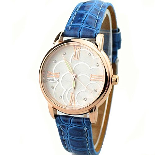 Zps(Tm) Roman Rhinestone Noctilucence Quartz Wrist Watch(Blue)