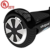 "Self Balancing Scooter, Skque I1 UL2272 6.5"" Smart Two Wheel Self Balancing Electric Scooter with LED Lights, Black"