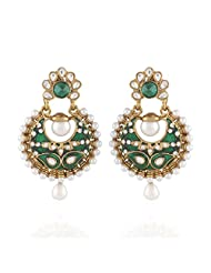 I Jewels Tradtional Gold Plated Elegantly Handcrafted Pair Of Fashion Earrings For Women. - B00N7IN9PA