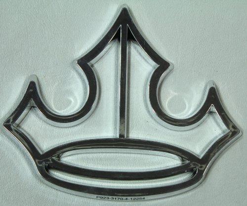 Disney Theme Parks Excliusive Crown Car Emblem- BONUS Double Sided Princess Stamp Included (Disney Crown Car Emblem compare prices)
