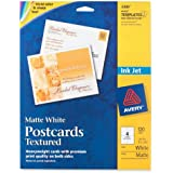Avery Personal Creations Textured Postcards, 4.25 x 5.5 Inches, White, 120 Cards (3380)