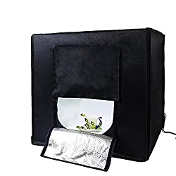 SMILEDRIVE PORTABLE PROFESSIONAL PHOTO LIGHTING BOOTH BOX STUDIO WITH 2 LED LIGHTS-CLICKING PROFESSIONAL PRODUCT PICS MADE EASY
