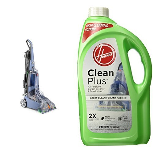 Hoover Max Extract 77 Multi-Surface Pro Carpet & Hard Floor Deep Cleaner, FH50240 and Hoover CLEANPLUS 2X 64oz Carpet Cleaner and Deodorizer, AH30330 Bundle (Carpet Cleaner Hoover 2 compare prices)