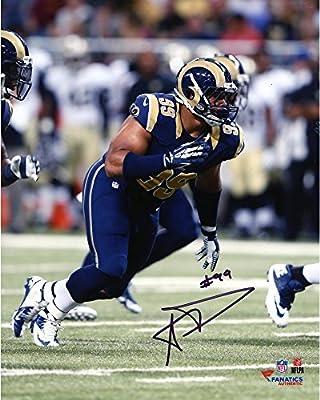 Aaron Donald Los Angeles Rams Autographed 8'' x 10'' Action Photograph - Fanatics Authentic Certified