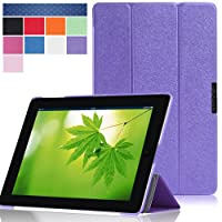 i-Blason Apple iPad Air Case (5th Generation) i-Folio Smart Cover Slim Hard Shell Stand Case Cover- Purple from i-Blason