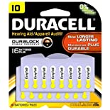 Duracell Batteries, Hearing Aid, Zinc Air, 10 16 batteries