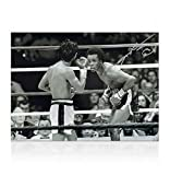 Sugar Ray Signed Boxing Photo - VS Roberto Duran - Autographed Boxing Equipment