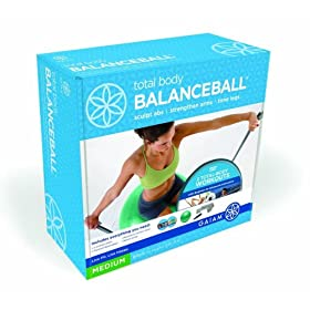 51Kf5h1vJ L. SL500 AA280  Gaiam Total Body Balance Ball Kit (65cm)