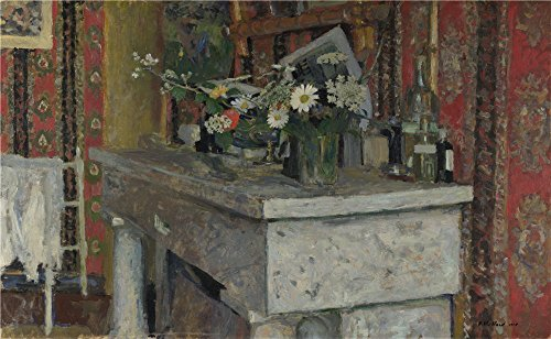 Oil Painting 'Edouard Vuillard - The Mantelpiece (La Cheminee),1905', 8 x 13 inch / 20 x 33 cm , on High Definition HD canvas prints is for Gifts And Bar, Foyer And Hallway Decoration (Delta Success Programming compare prices)