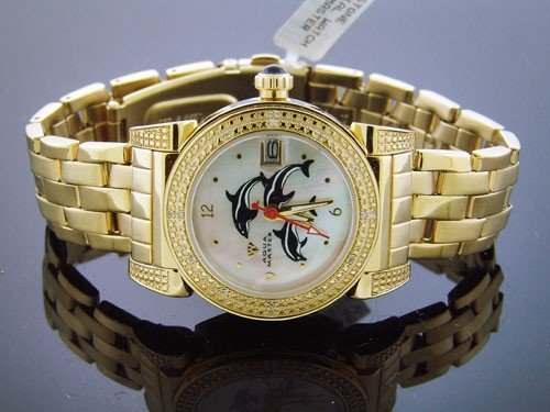 AQUA MASTER AM-YG34-1 - Reloj de pulsera mujer