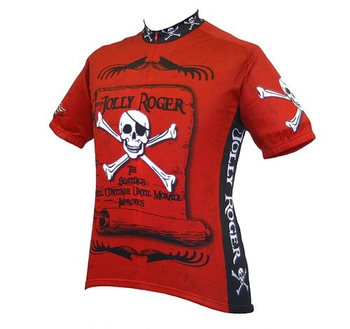 Buy Low Price World Jerseys Men's Jolly Roger Pirate Cycling Jersey (B004EWG1C6)