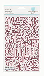 Martha Stewart Crafts Large Glitter Alphabet, Pink