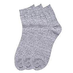 HANS Executive melange Ankle length socks for men (Pack of 3) (a3gry_lightgrey)