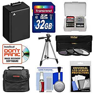 Essentials Bundle for Panasonic Lumix DMC-FZ70 Digital Camera with 32GB Card + Case + DMW-BMB9 Battery + Tripod + 3 UV/ND8/CPL Filters + Accessory Kit