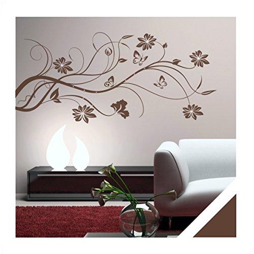 wandtattoo floral blumen ranke laurene inkl swarovski. Black Bedroom Furniture Sets. Home Design Ideas