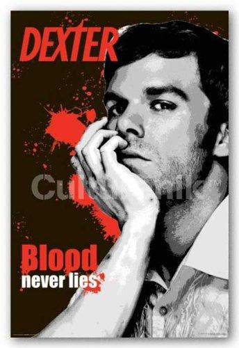 (24x36) Dexter Blood Never Lies TV Poster Print