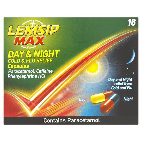 Lemsip Max Day & Night Cold & Flu Relief Capsules 16 Capsules