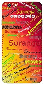 Suranga (Divine) Name & Sign Printed All over customize & Personalized!! Protective back cover for your Smart Phone : Moto G3 ( 3rd Gen )