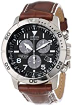 "Hot Sale Citizen Men's BL5250-02L ""Eco-Drive"" Leather and Titanium Watch"