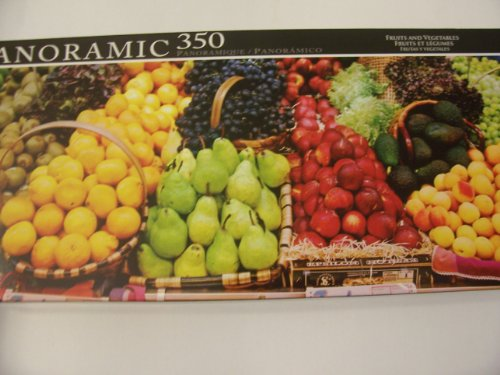 Panoramic 350 Piece Puzzle ~ Fruits and Vegetables by LPF - 1