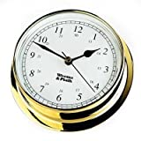 Weems & Plath Endurance Collection 125 Quartz Clock (Brass)