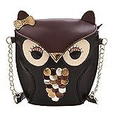 New Fashion Women Leather Handbag Cartoon Bag Owl Fox Shoulder Bags