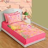 Swayam Kids N More Digitally Printed Mercerised Cotton Single Bedsheet With 1 Pillow Cover - Multicolor