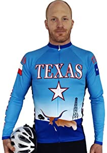 Texas CoolBlue Long Sleeve Cycling Jersey - Small
